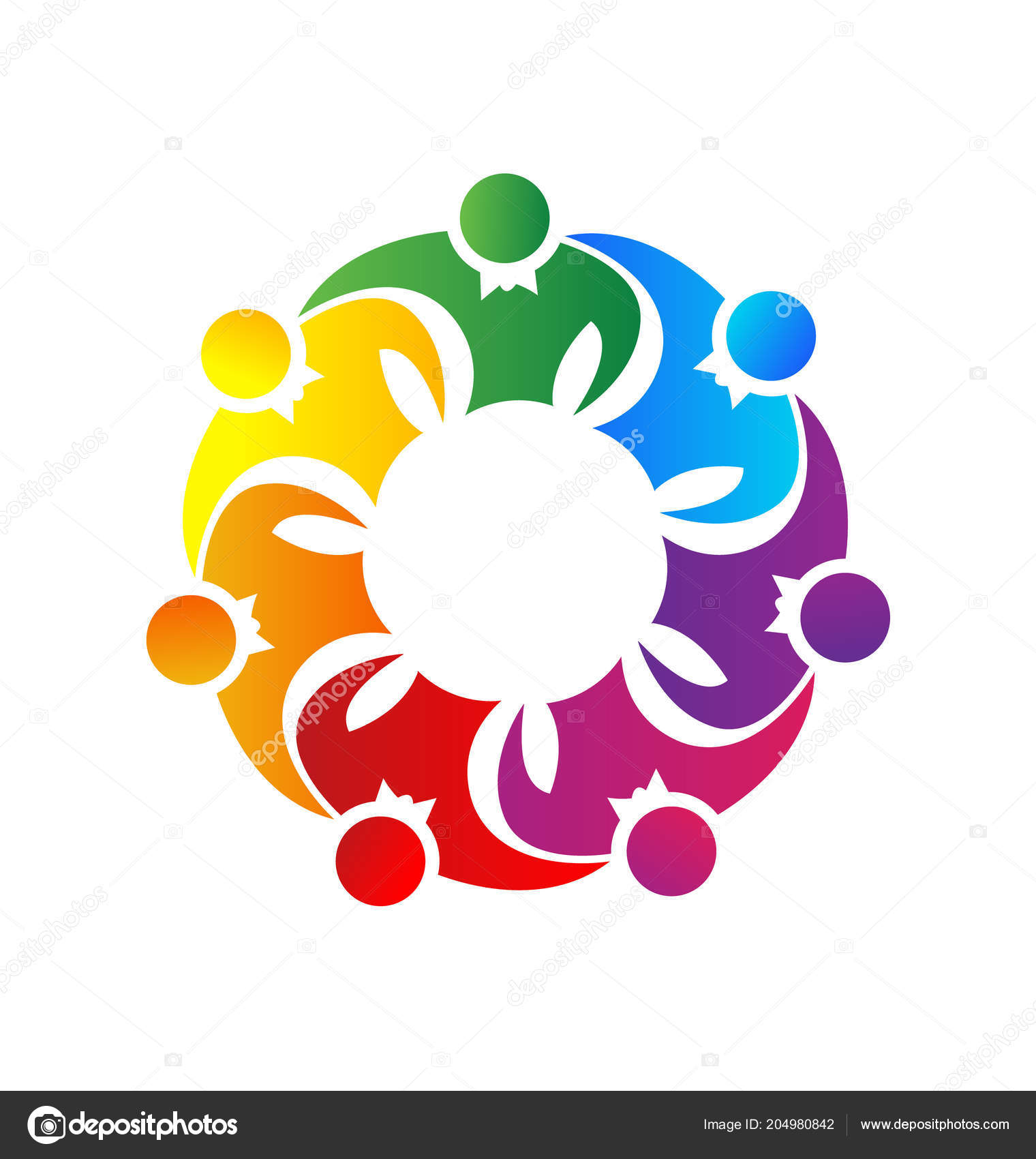 Team Of People Together Unity Vector Logo Symbol