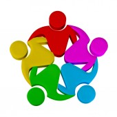 Týmová práce skupinové plánování a schůzky. Návrh loga