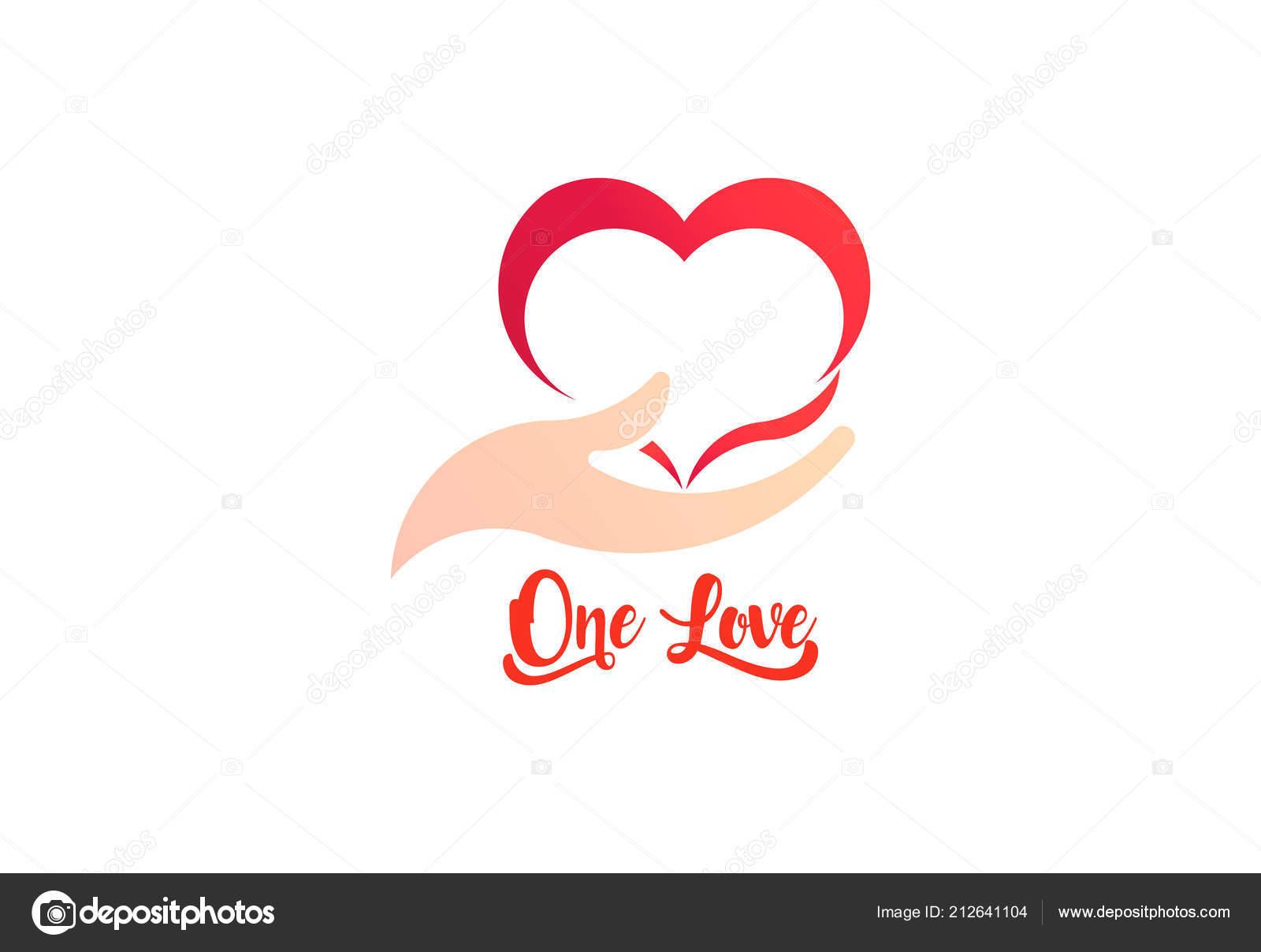 a33020d929b1 Сердце и заботы руку, логотип бизнес вектор — Векторное изображение ...