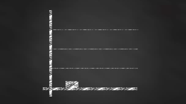 Diagram diagramu grafu křídy, animace videa