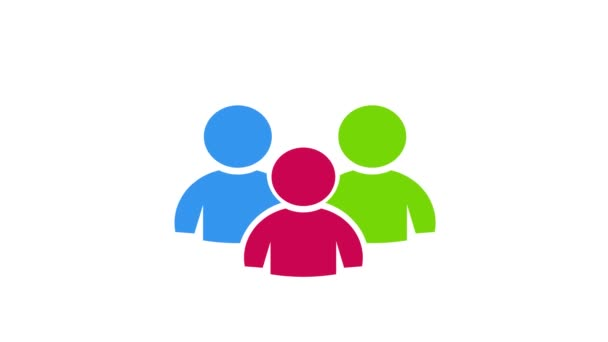 Teamwork Menschen Gemeinschaft. Videoanimation