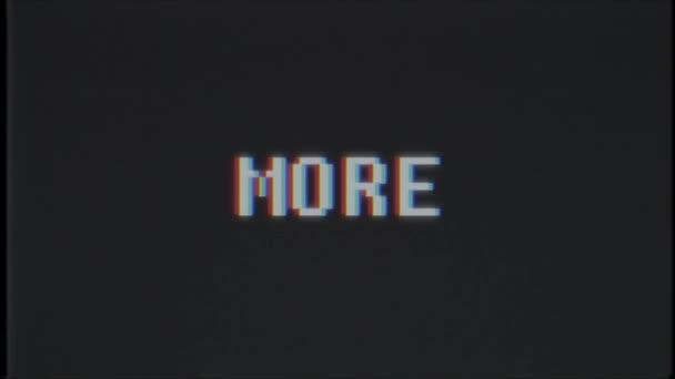 retro videojáték több szó szöveg számítógép tv fénylik zavaró zaj képernyő animáció varrat nélküli hurok új minőségi egyetemes évjárat-motion dinamikus animációs háttér színes örömteli videóinak m
