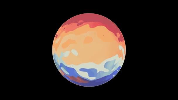 színes gömb globe varrat nélküli hurok animációs háttér új minőségű univerzális színes hűvös szép videofelvétel