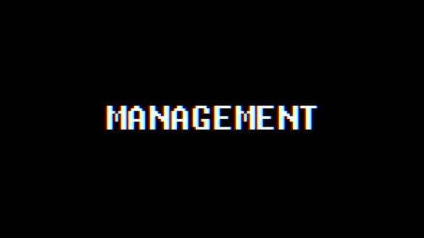 Retro videoherní Management slovo text počítač tv závada rušení hluku obrazovku animace bezešvé smyčka nový kvalitní univerzální vintage pohybu dynamický animovaný pozadí barevné radostné video m