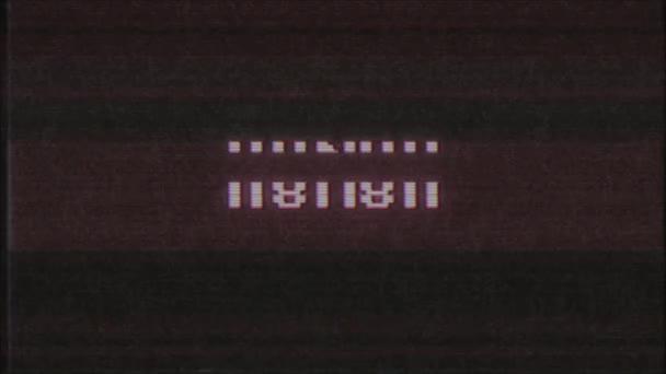 Retro videoherní čestné slovo textu počítač tv závada rušení hluku obrazovku animace bezešvé smyčka nový kvalitní univerzální vintage pohybu dynamický animovaný pozadí barevné radostné video m