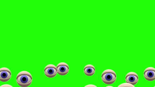 Blue eyes balloon fly on chroma key green screen background animation New  quality universal dynamic animated colorful joyful nice cool video footage