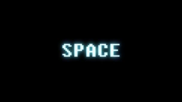 retro videojáték hely szó szöveg számítógép tv fénylik zavaró zaj képernyő animáció varrat nélküli hurok új minőségű univerzális évjárat-motion dinamikus animációs háttér színes örömteli videóinak m