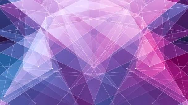 abstrakt lila blau poligon netzverbindungen wolke animation hintergrund neue qualität dynamische technologie bewegung bunt video footage