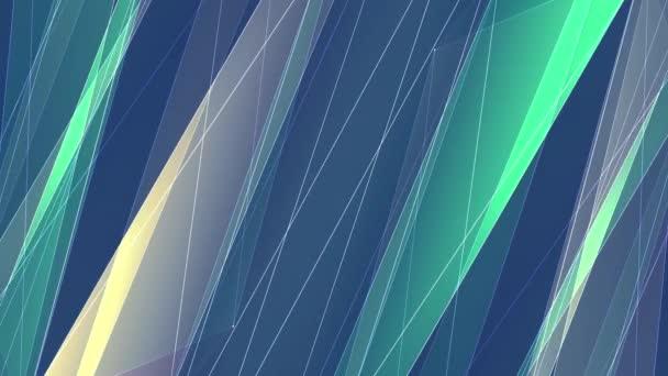 abstrakte symmetrische grün gelb poligon Netz Linien Wolke Animation Hintergrund neue Qualität dynamische Technologie Bewegung bunte Videomaterial