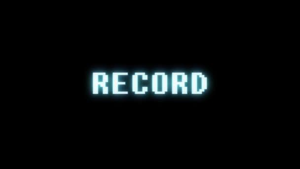 retro videojáték szövege a régi tv-interferencia képernyőn... Új minőségű univerzális évjárat-motion dinamikus animációs háttér színes örömteli cool videó felvétel