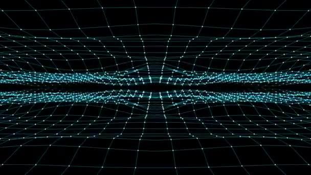 abstraktní modrý mnohoúhelník síťových připojení jeskyně překrýt animace pozadí nové kvalitní dynamická technologie pohybu barevné video záběry