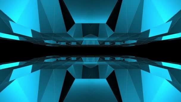 abstraktní nízké polygonální jeskyně letu bezešvé smyčka animace pozadí nové unikátní retro krásné dynamické chladné pěkné radostné video záznam