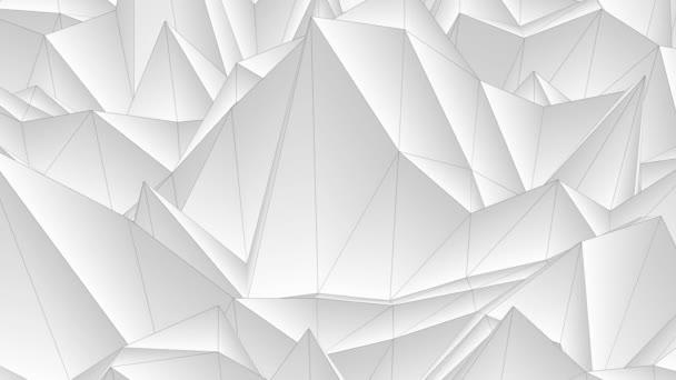 jemný tok vlny nízké bílé polygonální krajina bezešvé smyčka animace pozadí nové unikátní retro krásné dynamické Super pěkné radostné videozáznam