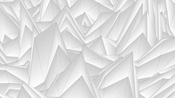 Soft flow hullám alacsony fehér sokszögű táj varrat nélküli hurok animációs háttér új egyedi retro gyönyörű dinamikus hűvös szép örömteli videofelvétel