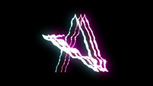 animált Lightning bolt járat a fekete háttér folyamatos hurok animáció új minőségi egyedi jellegű fényhatás videofelvétel gfd