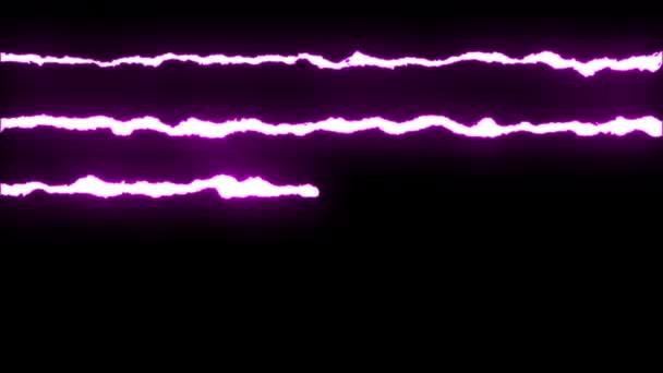 loopable lila neon villám cikk-cakk alakú járat a fekete háttér animáció új minőségi egyedi jellegű fényhatás videofelvétel