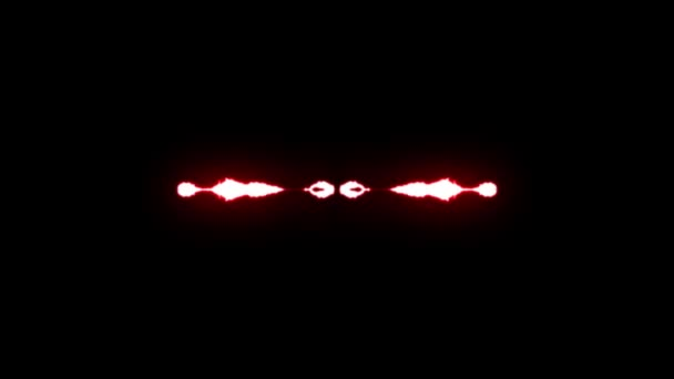 loopable animated RED Lightning bolts from center strike on black background animation new quality unique dynamic nature light effect video footage