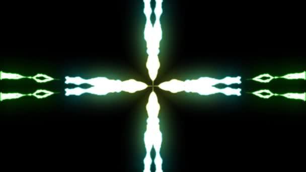 loopable-animált szivárvány csillag alakú villámok Center sztrájk a fekete háttér animáció új minőségi egyedi dinamikus jellege fényhatás videofelvétel