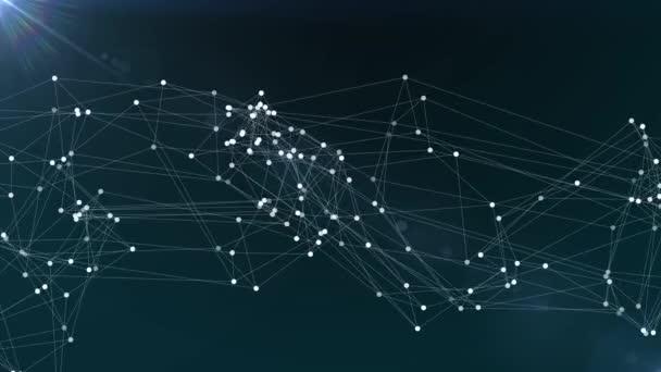 abstrakt blau Polygon Netzverbindungen Wolke Animation Hintergrund neue Qualität dynamische Technologie Bewegung bunt Videomaterial
