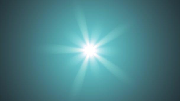Centrální hvězda zářit rotující optické čočky světlice lesklé bokeh bezešvé smyčka animace umění pozadí - nové kvalitní přirozené osvětlení lampy paprsky efekt dynamické barevné světlé video záběrů