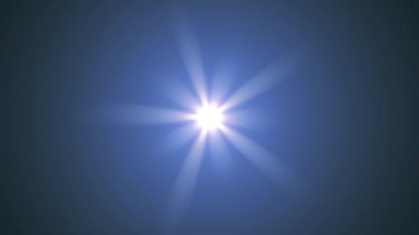 központi csillag ragyog forgó optikai lencse trapéznadrág fényes bokeh varrat nélküli hurok animáció művészeti háttér - új minőségű természetes világítás lámpa sugarak hatása dinamikus színes világos videofelvétel