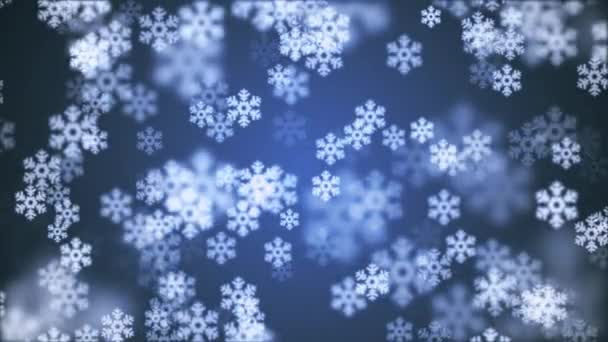 random floating snowflake animation background new quality shape universal motion dynamic animated colorful joyful holiday music