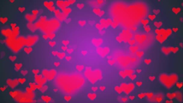 mnoho srdce tvar jako ikonu náhodné pohybující stromeček animace pozadí nové jedinečné kvality univerzální pohyb dynamické barevné veselé taneční hudby dovolená video záznam