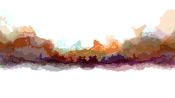 digitale turbulente bewegte abstrakte Farbmalerei nahtlose Schleifenanimation Hintergrund neue einzigartige Qualität Kunst stilvoll bunt fröhlich cool schöne Bewegung dynamisch schöne Videomaterial