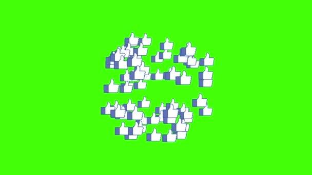 Mnozí jako ikony exploze z centra překrýt animace pozadí nové kvalitní kultura sociální sítě mediální video