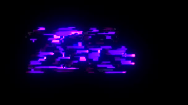 Cool Neon Glitch 2019 Text Animation Background Logo Seamless Loop