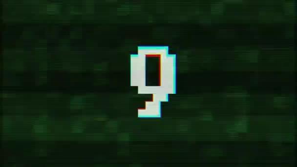 barevné závada odpočítávání od 10 do 1 rušení zelené pozadí čísla animace nové dynamické dovolené radostné techno video záběry