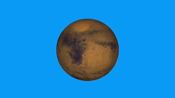 simple Mars planet model rotating seamless loop animation on green screen background New quality universal space colorful video