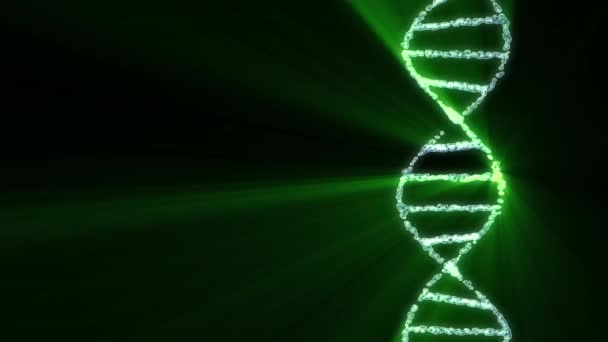 DNA spiral molecule rotating animation background new quality beautiful natural health cool nice stock video footage .