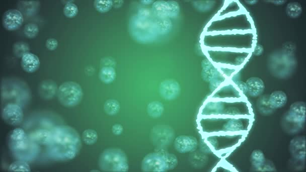 DNA spiral molecule rotating animation background new quality beautiful natural health cool nice stock video footage