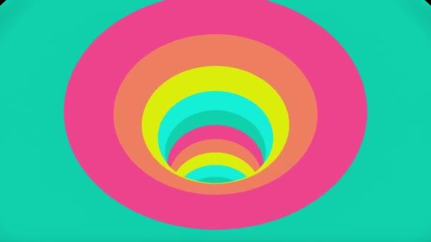 bunte Wurmloch Trichter Tunnel Flug nahtlose Schleife Animation Hintergrund neue Qualität Vintage-Stil cool schön schön 4k Stock Video-Material
