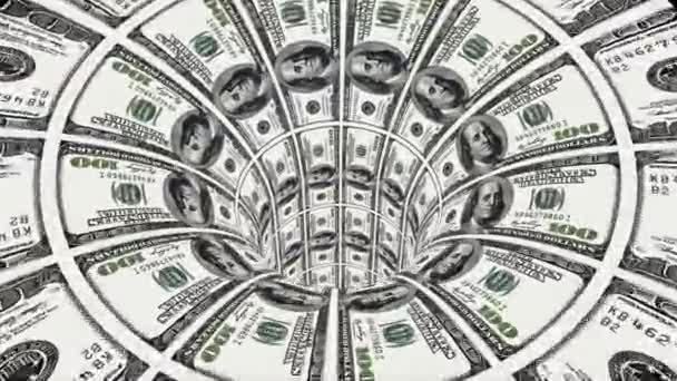 nás dolar červí díry nálevky tunelu letu bezešvé smyčka animace pozadí nové kvalitní finanční podnikání cool pěkné krásné 4k video stopáže