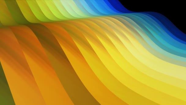 měkká mávající pruhovaná textilie abstraktní linie mírný tok plynulá smyčka animace pozadí nová kvalita dynamický umění pohyb barevný cool krásný krásný video 4 k umělecké zásoby záběry