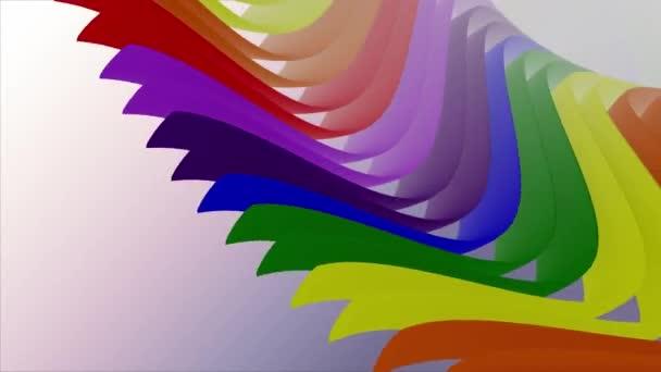 lágy integetett fényes csíkok szövet absztrakt vonalak gyengéd áramlás zökkenőmentes hurok animáció háttér új minőségű dinamikus művészeti Motion színes hűvös szép gyönyörű videó 4k művészi Stock Footage