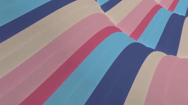 měkké mávající lesklé pruhy textilie abstraktní linie jemný tok bezproblémový smyčka animace pozadí nová kvalita dynamický umění pohyb barevný cool krásný krásný video 4k umělecké skladový záběr