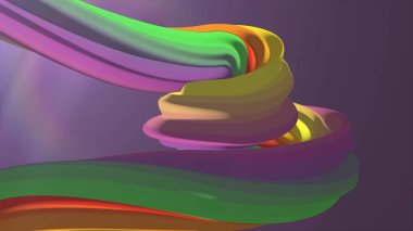 Soft colors 3D rendering curved marshmallow candy abstract shape illustration background new quality universal colorful joyful 4k stock image