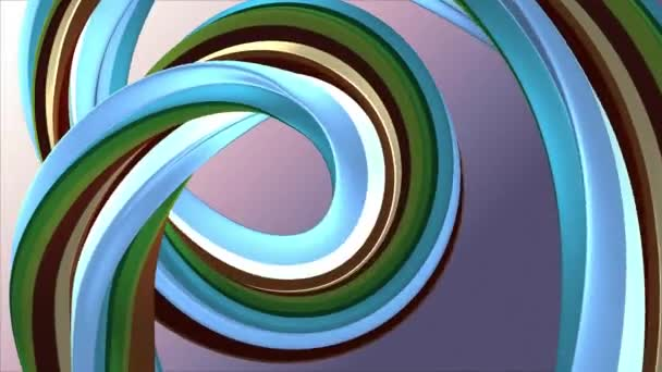 Soft colors 3D curved rainbow rubber band marshmallow rope candy seamless loop abstract shape animation background new quality universal motion dynamic animated colorful joyful video 4k stock footage