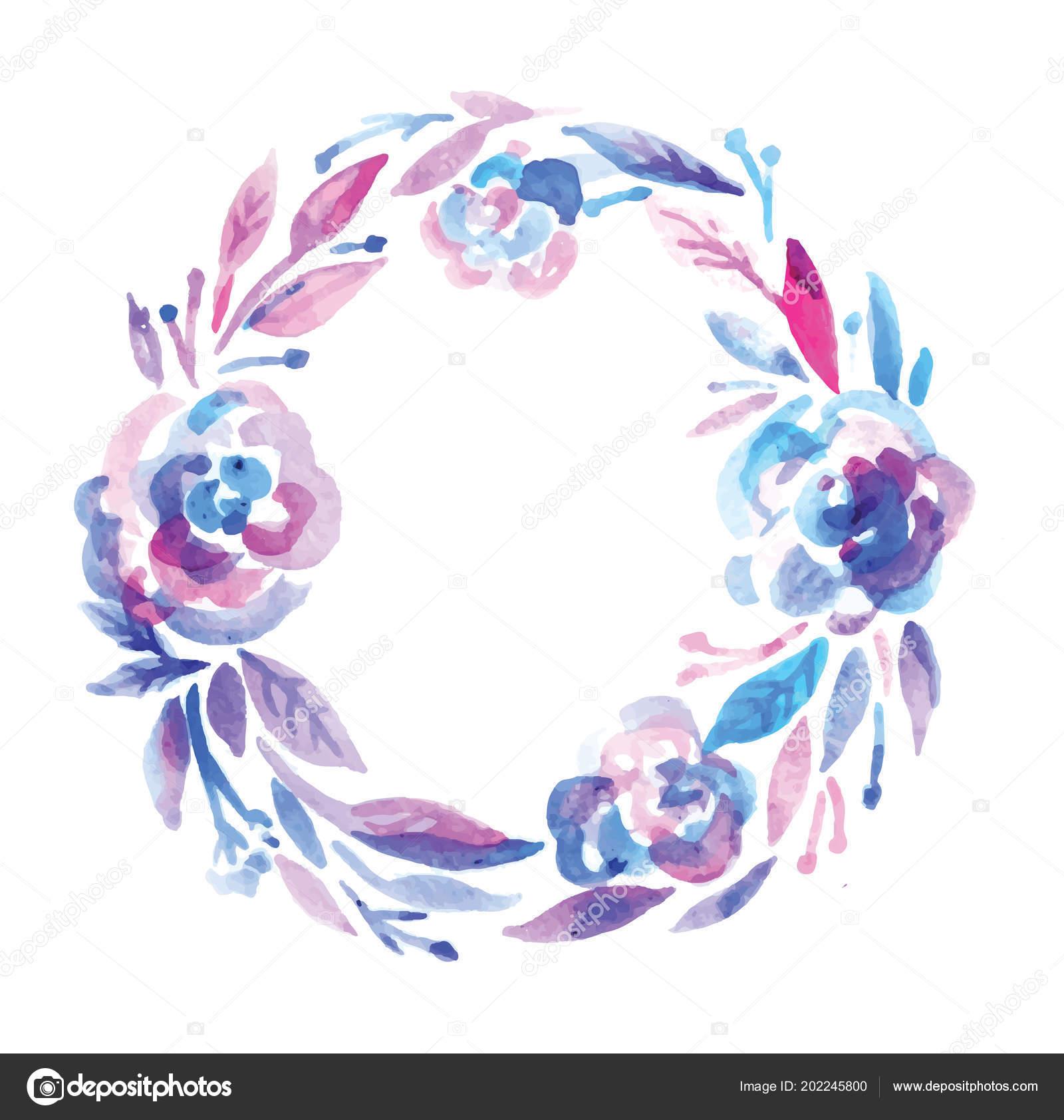 Sulu Boya Renk Splash çiçek şablonu çekilmiş Poster Merhaba Stok