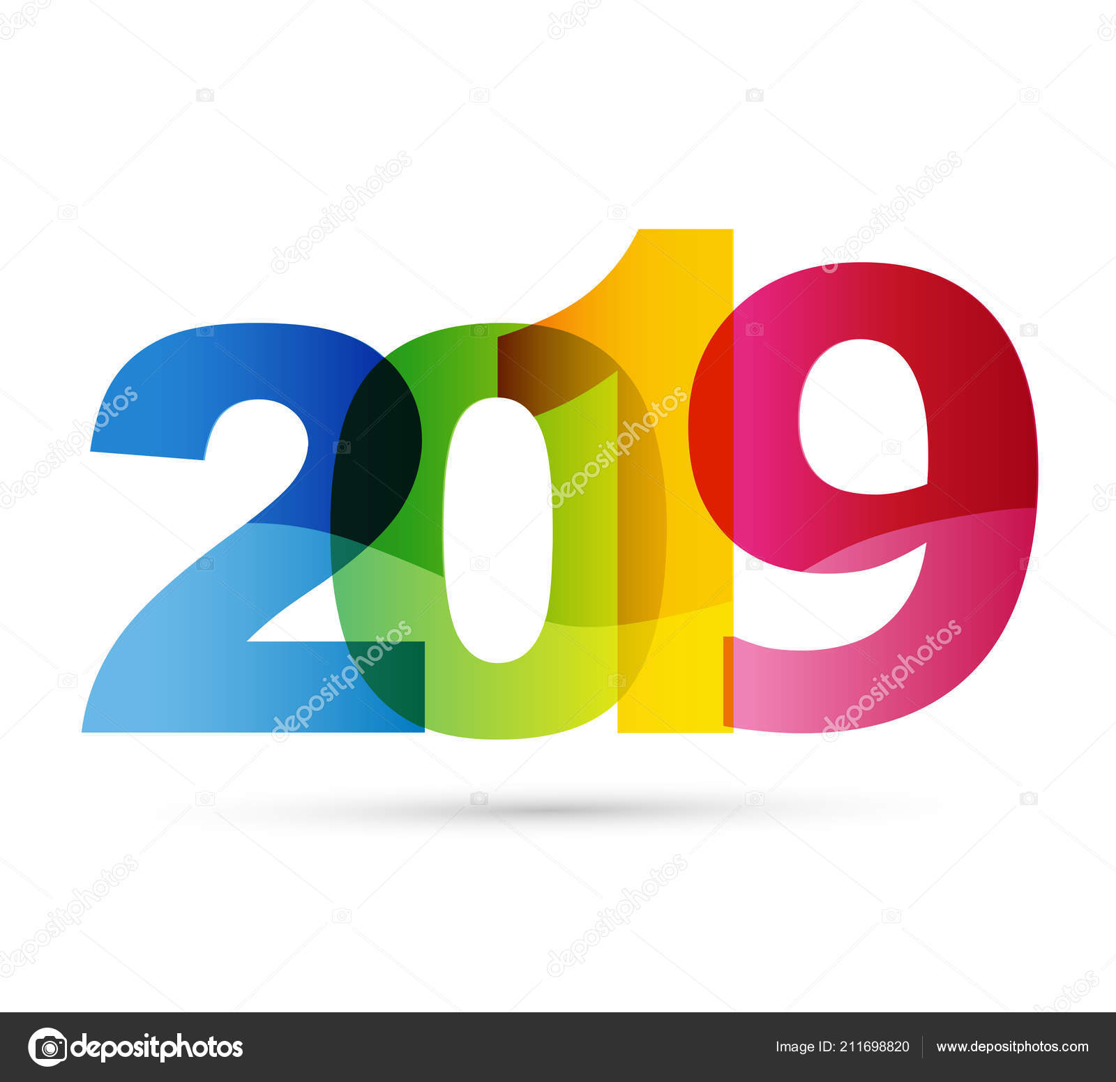 happy new year 2019 banner template frame stock vector