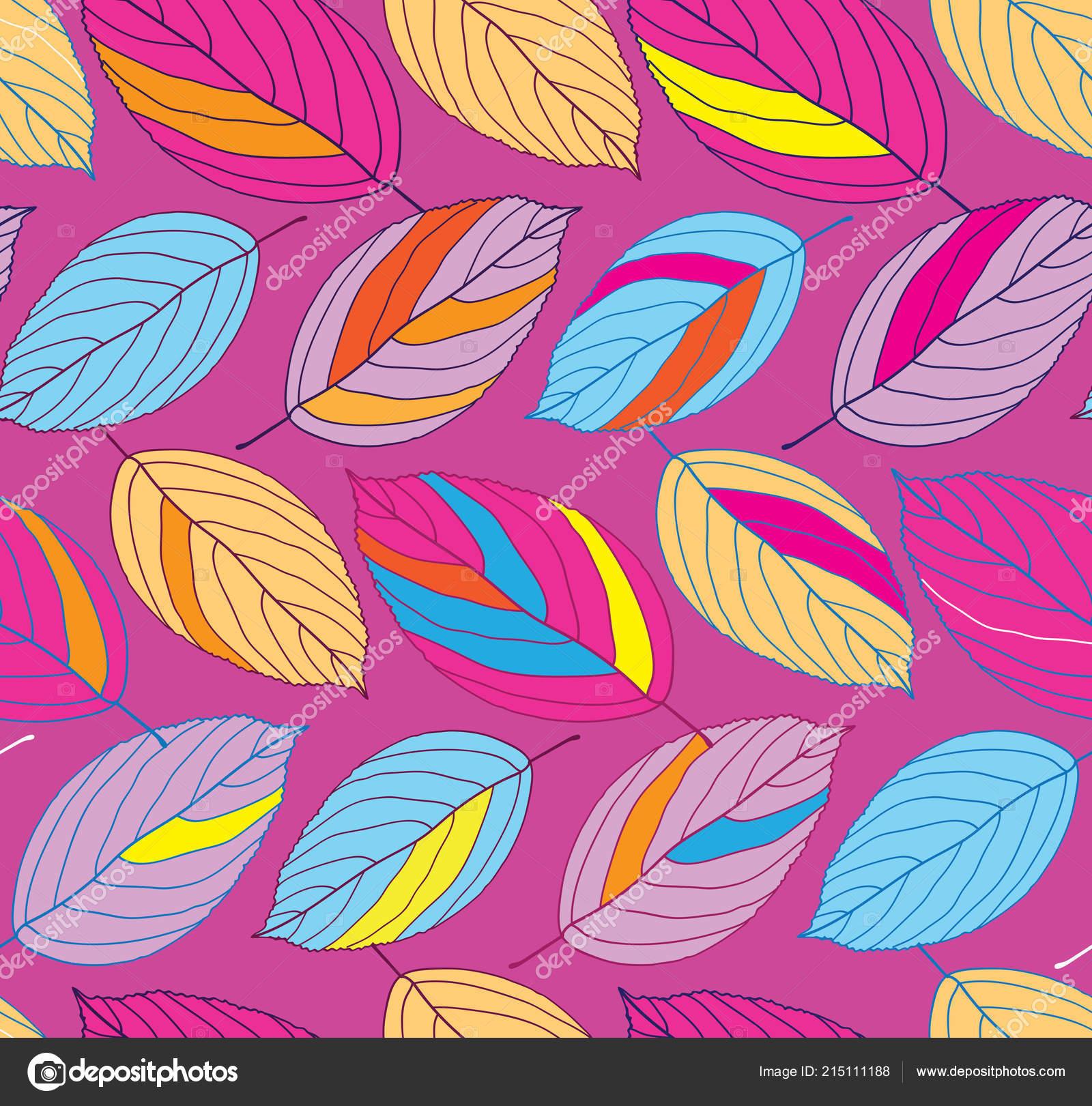 Color Leaves Flat Design