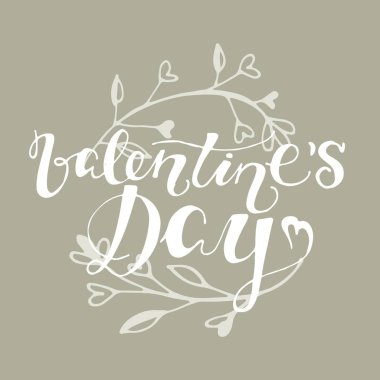 Lettering banner - love you, valentine's day