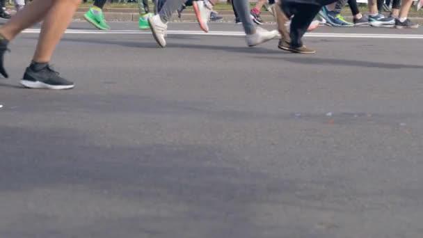 Minsk, Belarus-September 09, 2018: Many People Running Marathon