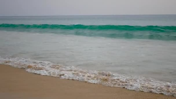 Vysoké vlny omývá pobřeží tropické moře