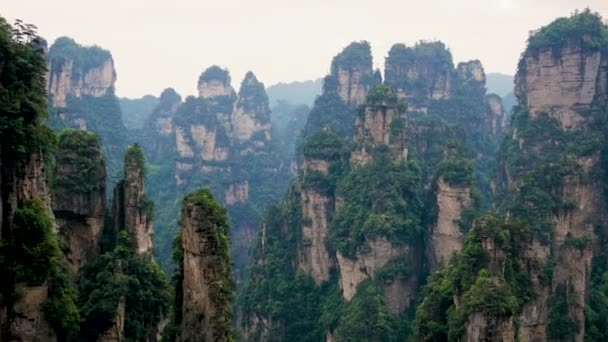 Mountain Landscape Of Zhangjiajie Forest Park With Stone Pillars Rock Formations