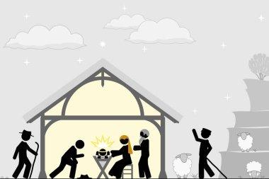 Birth of Christ near the city of Bethlehem