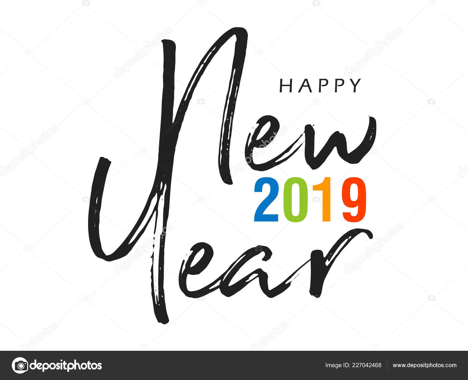 Happy New Year Lettering Design 74